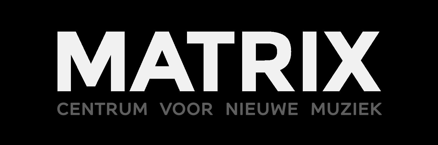 Logo Matrix Wit op zwart